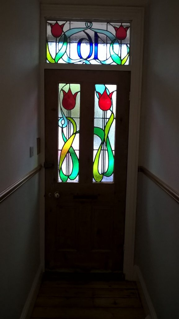 Art Nouveau Design Stained Glass windows