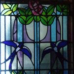 Nouveau Stained Glass Panel
