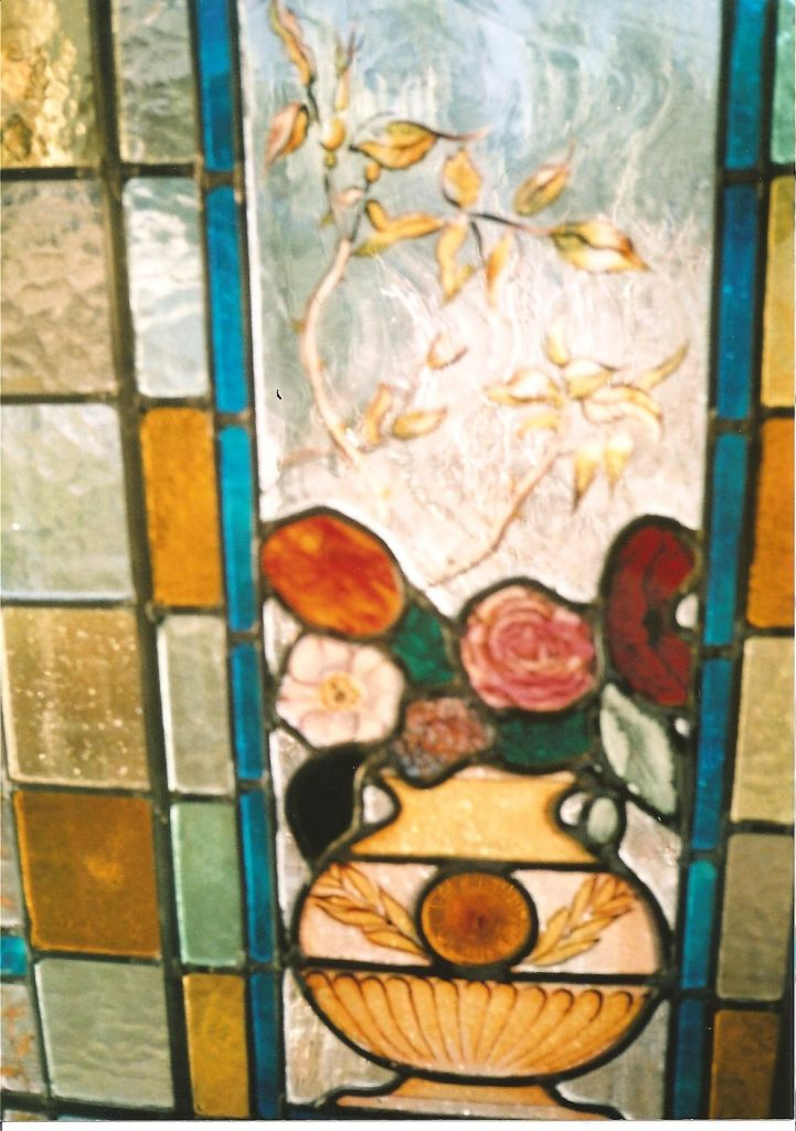 New Design Victorian style stained glass window - painted detail
