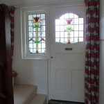 New Art Deco Style Side Window designed to coordinate with the old front door