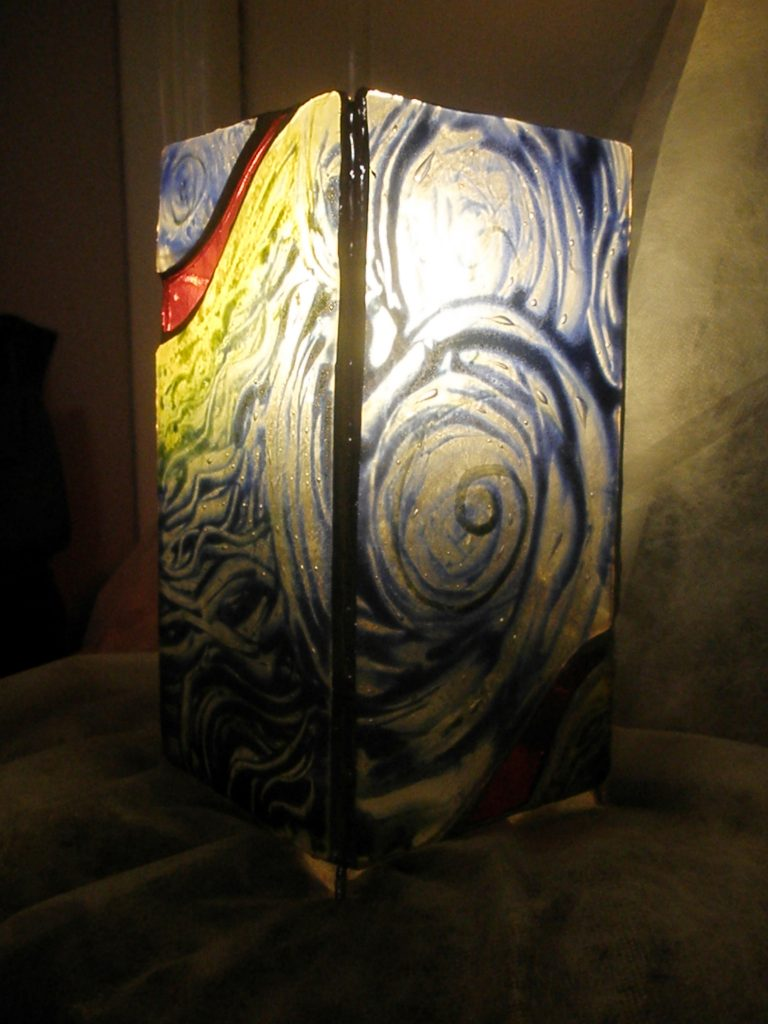 painted and fused stained glass